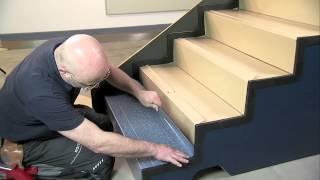 видео ковровое покрытие для ступеней лестницы