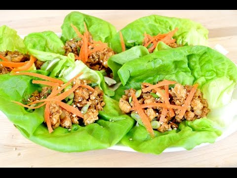 Ginger Sesame Chicken Lettuce Wraps Recipe |