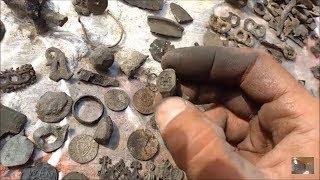 Skarb miejski-setki znalezisk przy eksploracji zasypanego miasta-kopanie skarbów jako sport #depozyt
