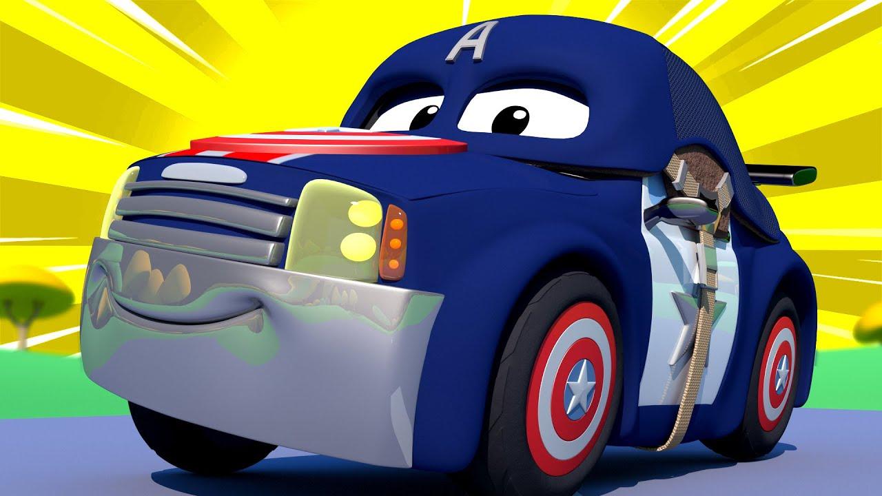 Biệt đội siêu anh hùng đặc biệt – Matt là Captain America – cửa hàng sơn của Tom 🎨 phim hoạt hình về