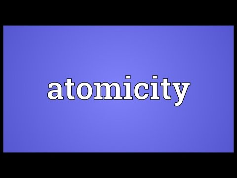 Atomicity Meaning