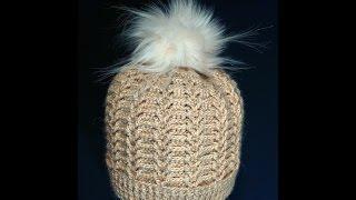 Шапка женская, крючком. Часть 1.  a cap knitted crochet. Part 1.(На шапку расходовался 1 моток пряжи (100гр-300м). Крючок №2,5. Часть 2 тут: https://youtu.be/QXcHQIUKJbg Узор