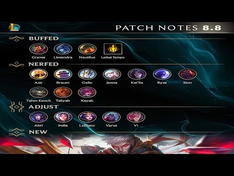 PATCH 8.8 Quick Rundown - League of Legends