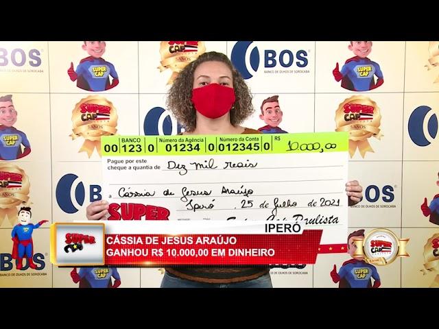 Ganhadores Supercap Paulista - 25/07/2021 - 1ºPRÊMIO