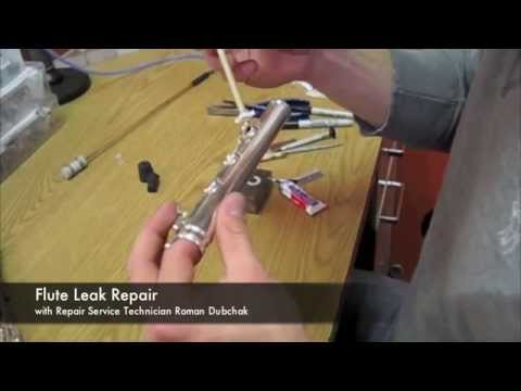 how to fix a flute leak