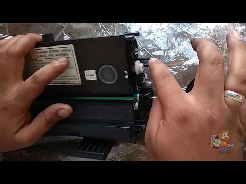Ricoh Sp 210SU Cartridge Refill and opening by Manjinder singh