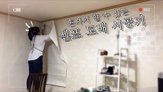 혼자서도 할 수 있는 셀프도배(feat.만능 풀바른 벽…