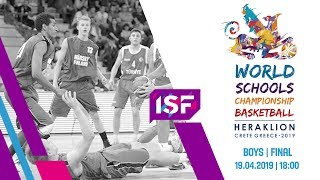 LIVE 🔴 - Israel vs Greece Boys Final - ISF World Schools Championship