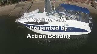 Bayliner 265 Sports Cruiser for sale Action Boating boat sales Gold Coast, Queensland