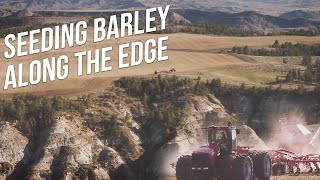 Seeding Barley Along 1,000ft Cliffs - Aerial Reel