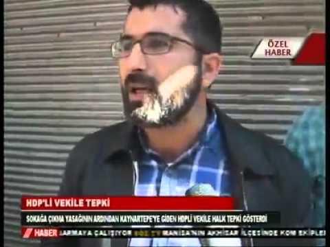 Diyarbakır esnafı HDP'ye gereken cevabı verdi.