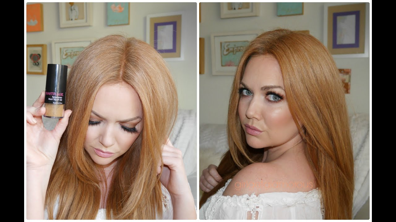 Rootflage Touch Up Powder Review Demo Strawberry Blonde Youtube