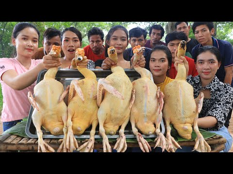 Wow amazing cooking curry duck with vegetable recipe in my village - Amazing cooking