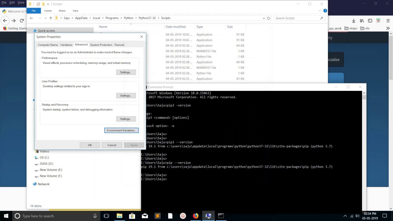 How to add Python Path to Environment Variables in Windows 10/8/7