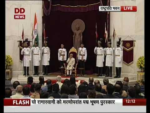 Appa saheb dharmadhikari- president pranab mukharajee presents padma award Appasaheb dharmadhikari