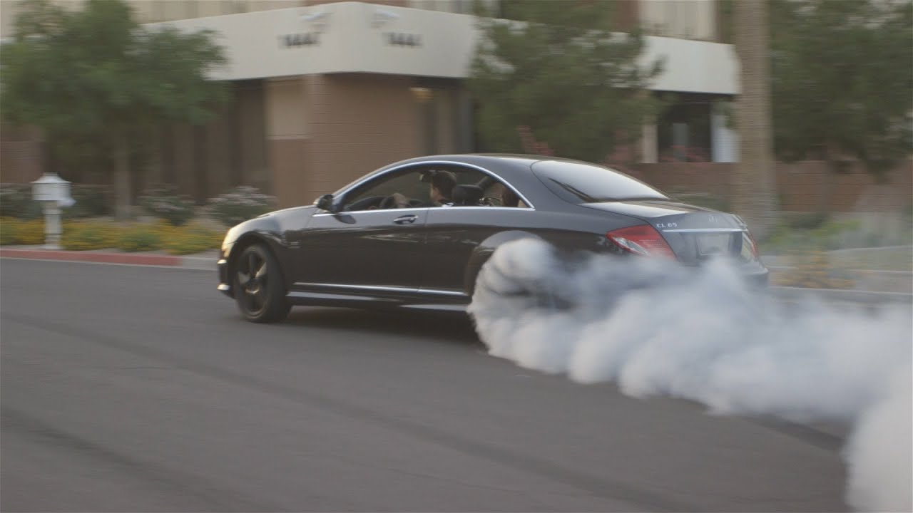 Mercedes Cl65 Amg Destroying Tires Youtube