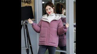Женский короткий пуховик nijiuding хлопковая свободная куртка в корейском стиле толстая одежда