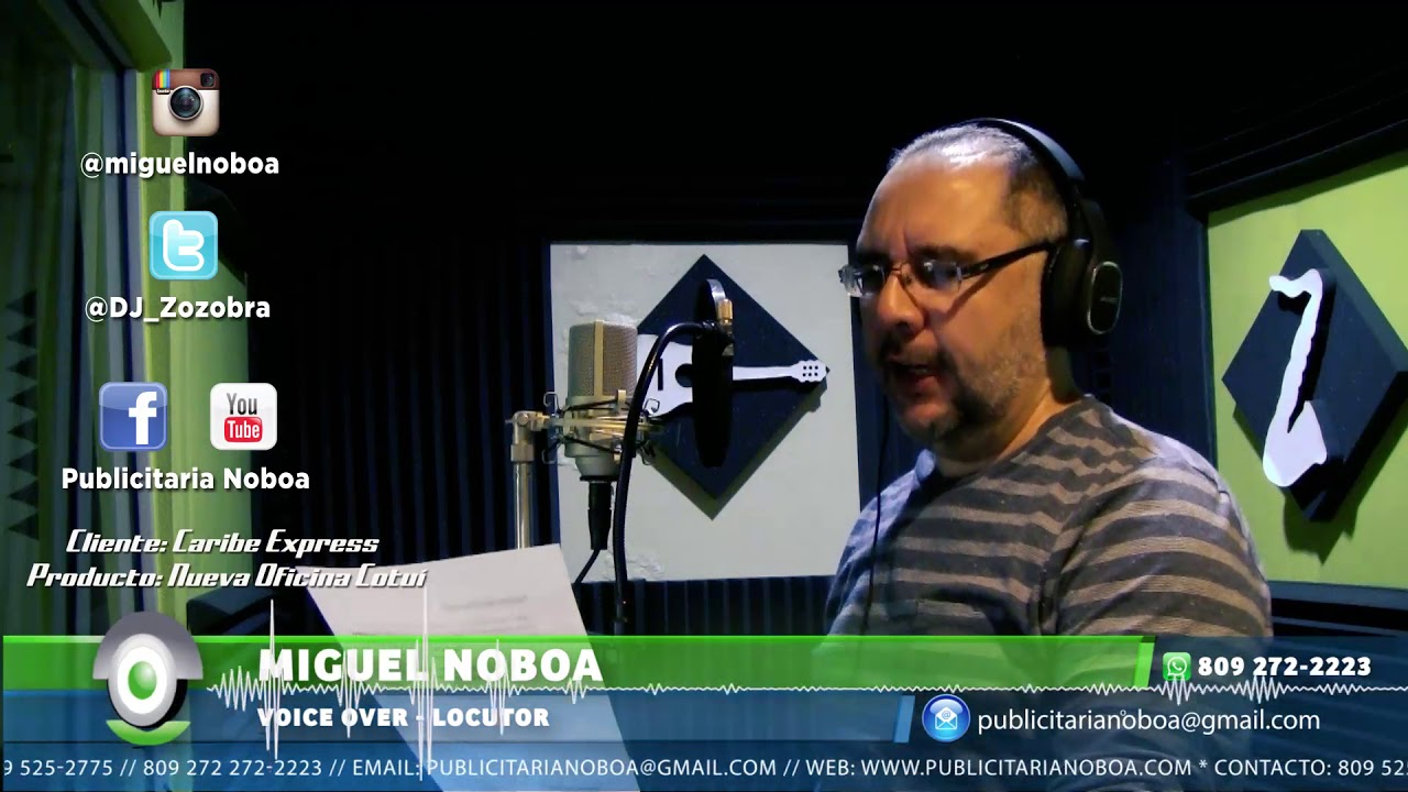 Miguel Noboa Voiceover – Caribe Express, sucursal Cotuí