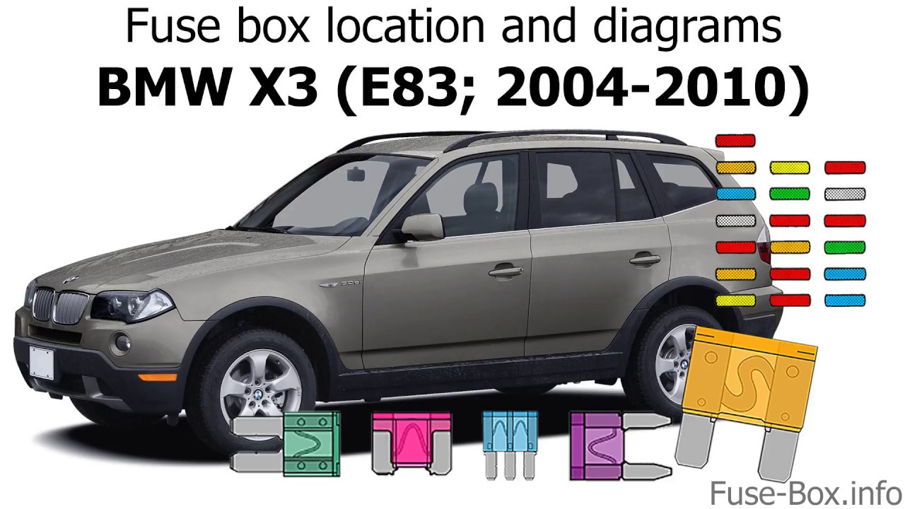 Fuse box location and diagrams: BMW X3 (E83; 2004-2010) - YouTube | X3 Fuse Diagram |  | YouTube