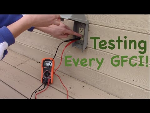 Testing Every Ground Fault Circuit Interrupter (GFCI) in my Home