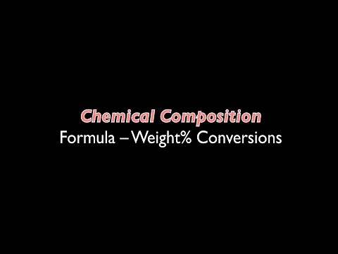 Chemical Composition 01 | Calculation Basics