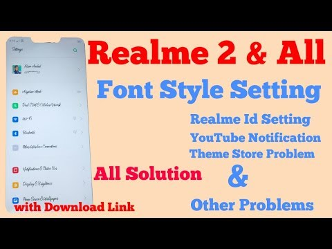 Realme 2 Font Style Change and Other Features - YouTube