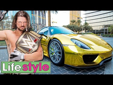 Photo of A.J. Styles  - car