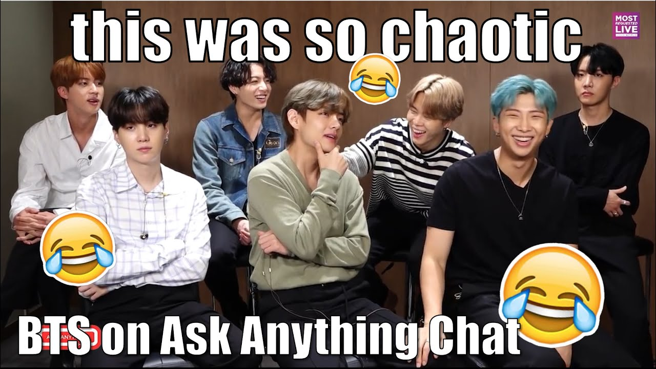 BTS on Ask Anything Chat was so chaotic