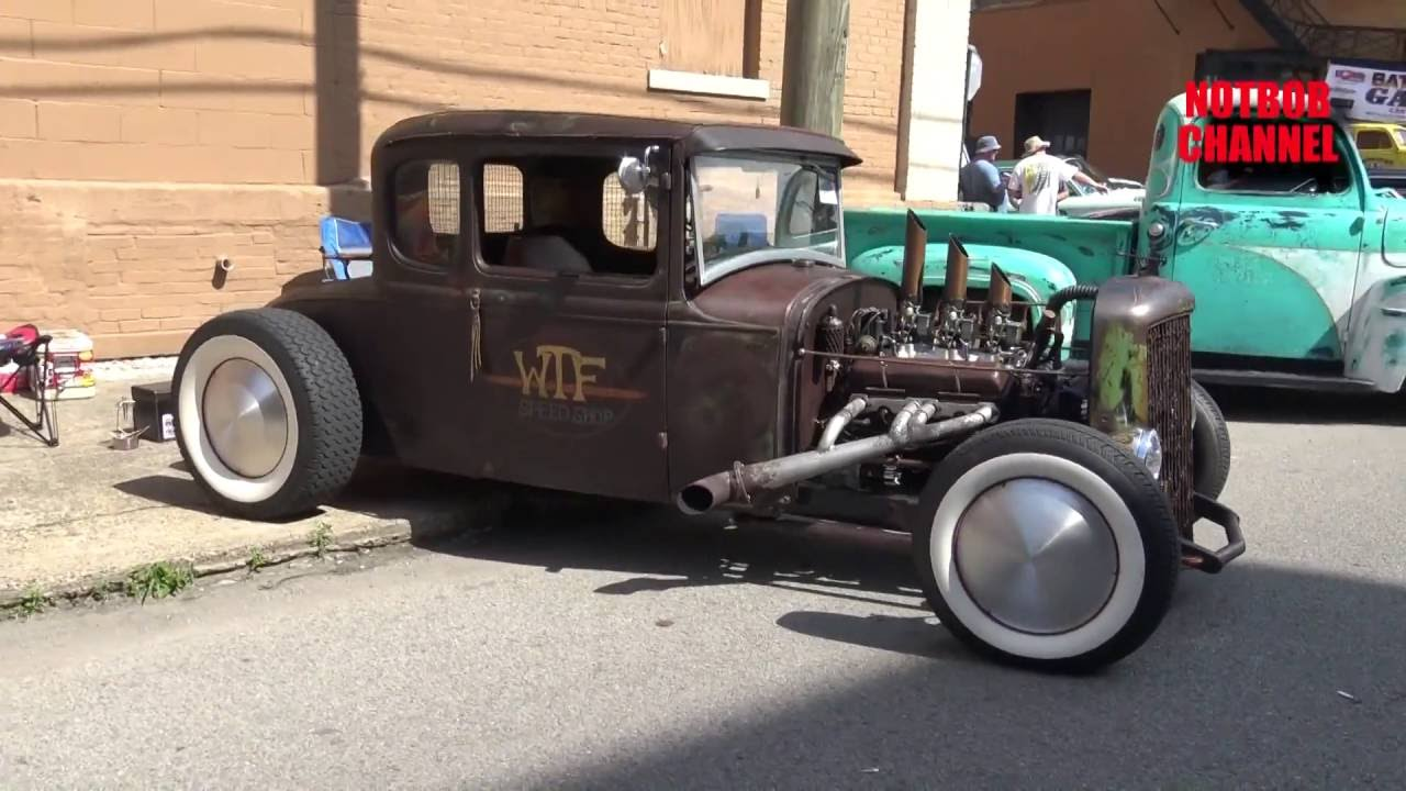 WTF Speed Shop Old School Ford Hot Rod/Rat Rod - Beatersville - YouTube