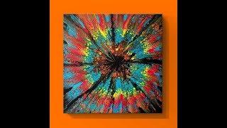 #108 Huge Starburst Swipe in Turquoise and Orange