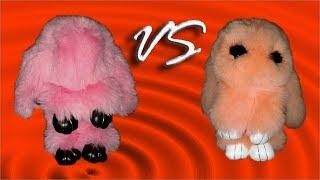 Дорого VS дешево обзор-сравнение персиковый кролик брелок из меха