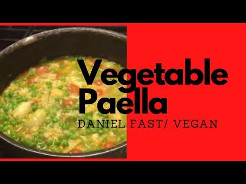 Daniel fast dinner for 6: vegetable paella
