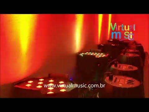 Canhao Refletor 54 Leds Optipar 3w Rgbw Led Cree - Www.virtualmusic.com.br