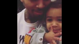 "Chris Brown singing ""Little More"" with Royalty 