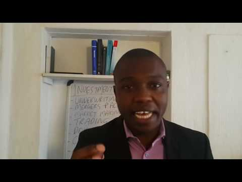 What is Investment Banking, Munya Duvera, Johannesburg South Africa