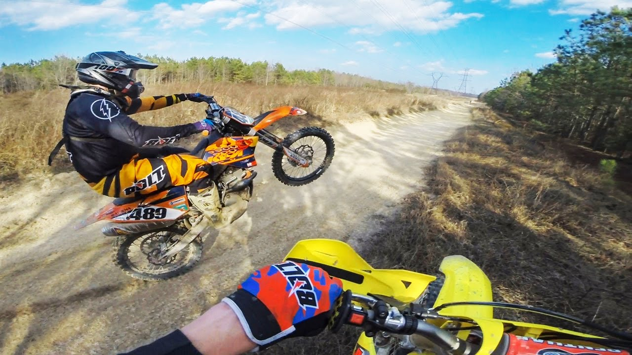 Dirt Bikes Playing in the Sand