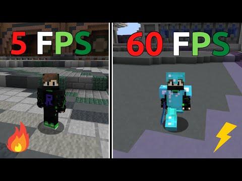 PVP MINECRAFT : 5 FPS VS 10 FPS VS 15 FPS VS 30 FPS VS 45 FPS VS 60 FPS. REHAMMER