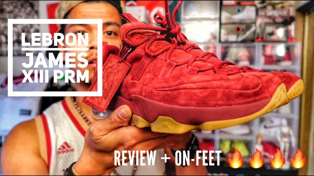 fb7033f8ffc lebron 13 maroon premium quick review + on-feet - YouTube