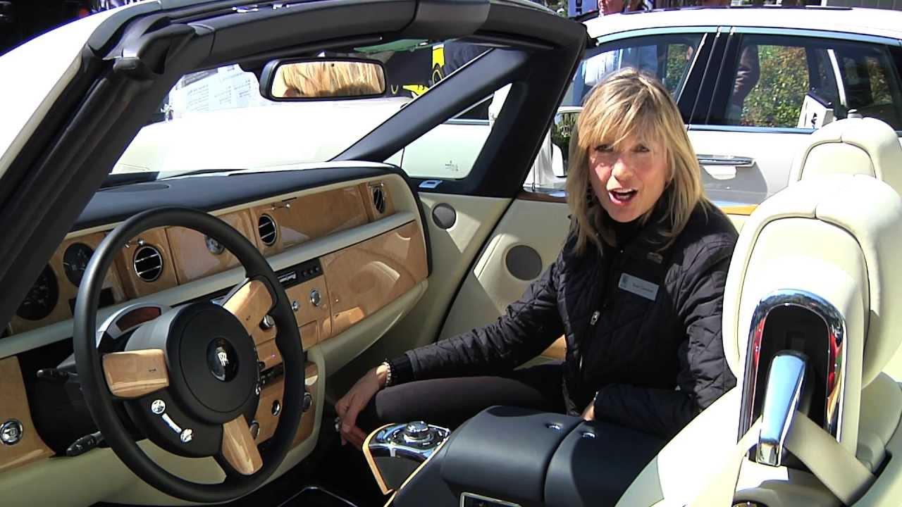 SpokesModel Susan Drops the Top on the New RollsRoyce Phantom