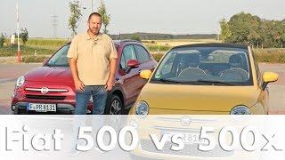 Vergleich: Fiat 500 gegen 500x | Auto | Test | Fahrbericht | Deutsch