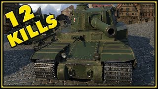 Type 5 Heavy - 12 Kills - 1 vs 5 - World of Tanks Gameplay