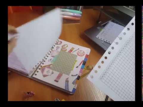 Как вставить лист в тетрадь со спиралью