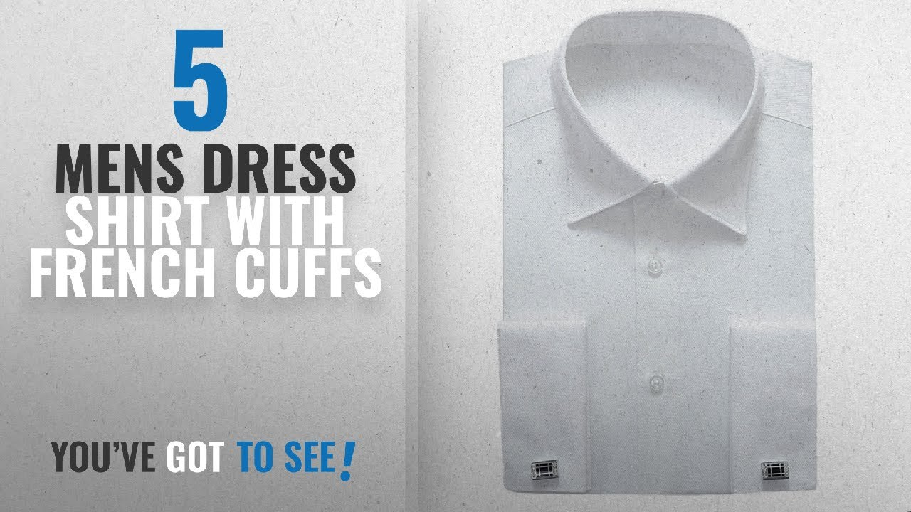 ac84e1fa799 Top 10 Mens Dress Shirt With French Cuffs   Winter 2018    Alimens   Gentle  French Cuff Regular Fit