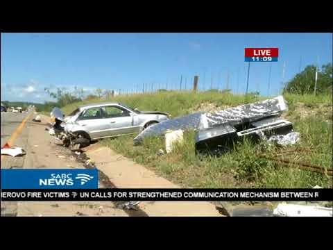 SABC reporter with a traffic update from Musina