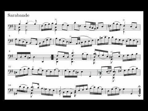 J. S. Bach Cello Suite n. 1 BWV 1007 - 4. Sarabande - Piano Transcription [tbpt49]