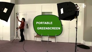 Portable Greenscreen: quick and easy Chroma Key lighting