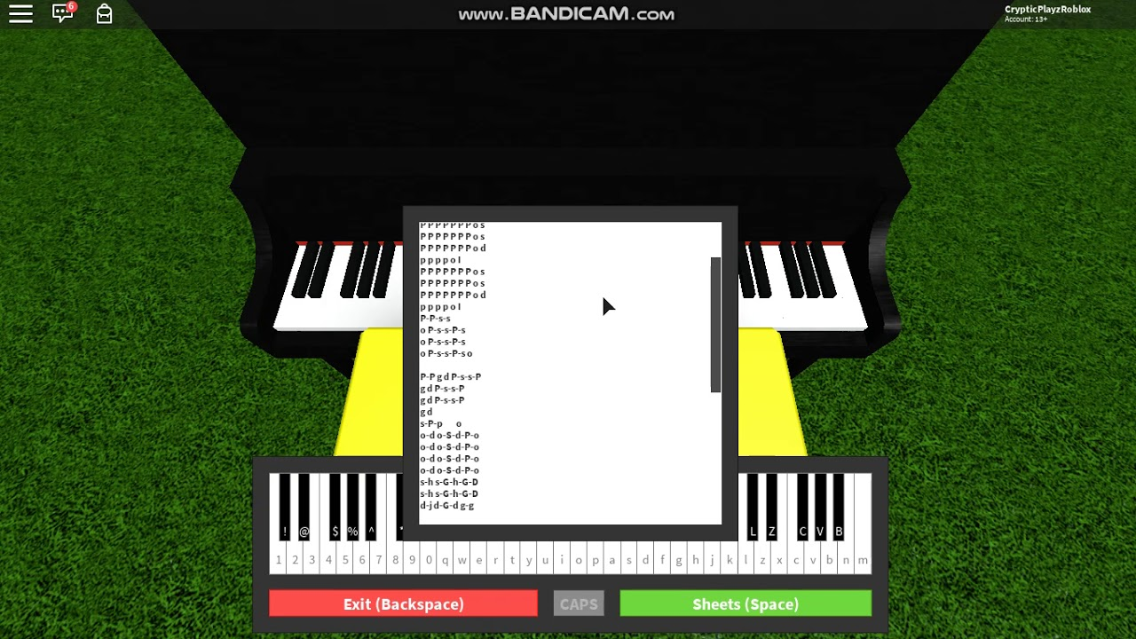 Undertale Songs On Roblox Piano By Lover
