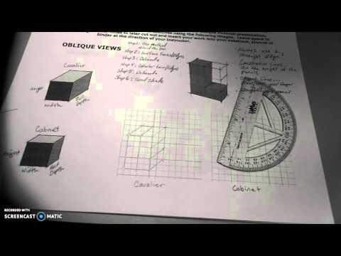 Oblique Pictorial - Intro & Cavalier