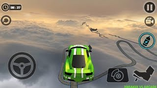 Impossible Stunt Car Tracks 3D All Cars unlocked: Green Car levels 13 to 15 - Android GamePlay