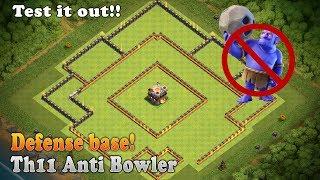 Clash of clans | Th11 Trophy/Defense base l Unbeatable Defense base | Anti Bowler Th11 War base
